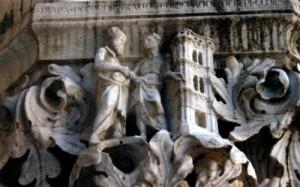 Нума Помпилий - император, строитель храмов и церквей. Фрагмент Палаццо Дукале в Венеции