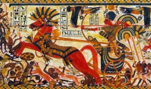 Египетская колесница. Фрески из Мемфисского храма