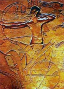Рамсес II в битве при Кадеше. Рельеф Абу- Симбельского храма