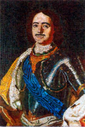Петр I. Мозаики М. В. Ломоносова. 1754 г.