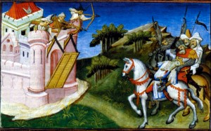 Смерть Чингисхана. Рисунок из книги о путешествии Марко Поло 1410 - 1412 гг.