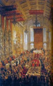 Обед после коронации императора Священной Римской империи Иосифа II во Франкфурте-на- Майне