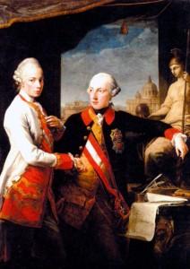 Император Иосиф II (справа) и его младший брат великий князь Тосканы Леопольд, который впоследствии стал императором Священной Римской империи Леопольдом II. Художник П.-Д. Батони. 1769 г.