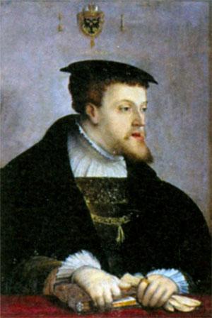 Карл V (1500-1558), король Испании с 1516 г., император Священной Римской империи с 1520 г. Художник X. Амбергер. Ок. 1532 г.