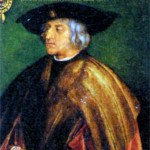 Максимилиан I Габсбург (1459-1519), король Германии (римский король) с I486 г., эрцгерцог Австрийский с 1493 г., император Священной Римской империи с 1508 г. Художник А. Дюрер. 1519 г.