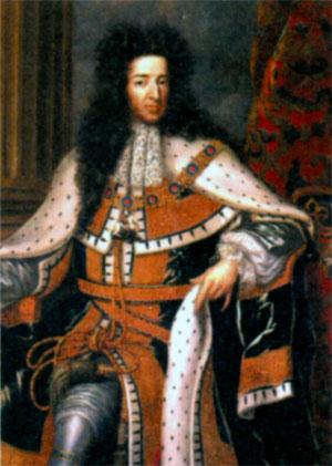 Вильгельм III Оранский (1650- 1702), правитель Нидерландов с 1672 г., король Англии и король Шотландии с 1689 г.