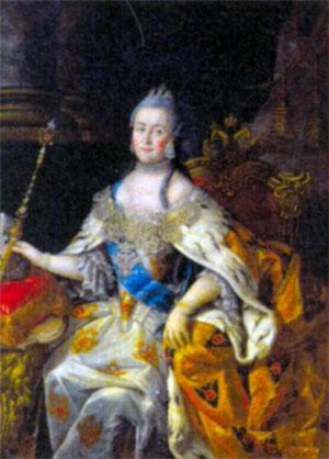 Екатерина II Великая (1729-1796), императрица Всероссийская с 1762 г. Художник А. П. Антропов. 1766 г.