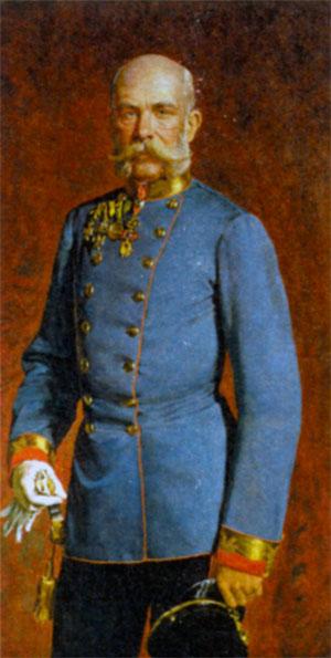 Франц Иосиф I (1830- 1916), император Австрийской империи и король Богемии с 1848 г., глава Австро-Венгерской монархии с 1867 г. Художник К). фон Блаас