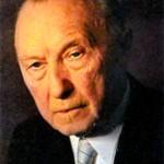 Конрад Герман Иозеф Аденауэр (1876-1967), первый федеральный канцлер ФРГ в 1949-1963 гг.