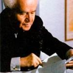 Давид Бен-Гурион (1886-1973), 1-й премьер-министр Израиля в 1948- 1953 и 1955-1961 гг. Фото 1959 г.