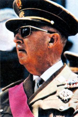 Франсиско Паулино Эрменехильдо Теодуло Франко Баамонде (1892- 1975). правитель и диктатор Испании в 1939-1975 гг. Фото 1969 г.