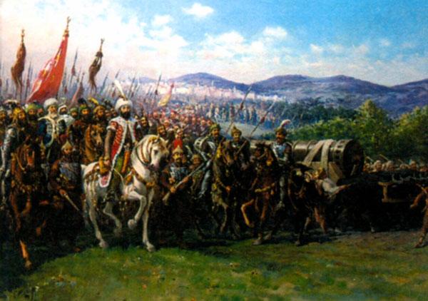 Мехмет II завоевывает Константинополь. Художник Ф. Зонаро. 1903 г.