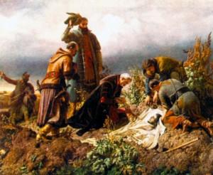 Смерть Лайоша II. Художник Б. Зекели. 1860 г.