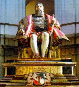 Статуя Густава Вазы в Скандинавском музее Стокгольма