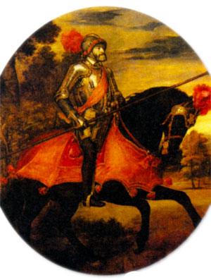 Конный портрет Карла V (Карл V в сражении под Мюльбергом). Художник Тициан. 1548 г.