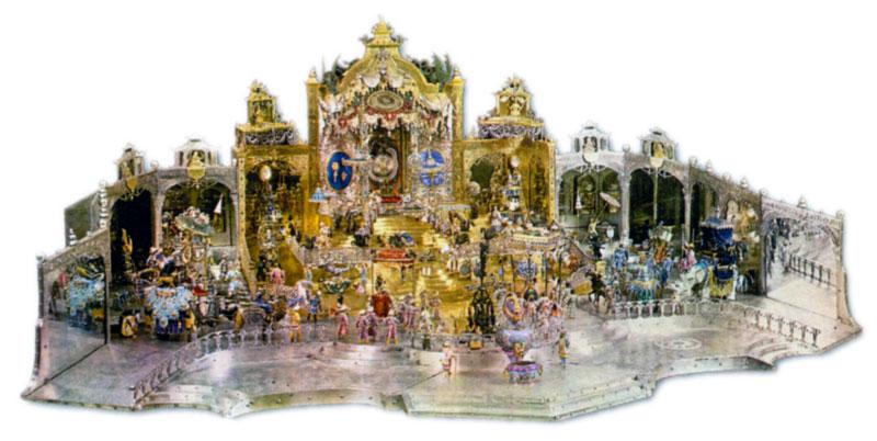 Дворцовый прием в Дели в день рождения Великого Могола Аурангзеба. Мастера Динглингер и братья. 1701-1708 гг.