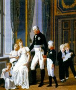 Фридрих Вильгельм III с семьей. Художник Г. -А. Дэлинг. 1806 г.