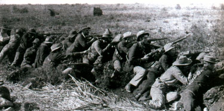 Буры в битве за Мафекинг в 1899 г.