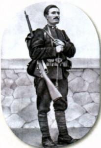 Муссолини в итальянской военной форме. 1917 г.