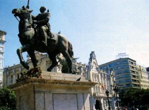 Конная статуя генерала Франко в Сантандере (Испания)