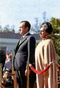Президент США Ричард Никсон и Индира Ганди. 1971 г.