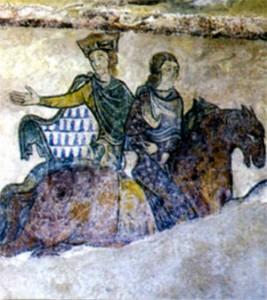 Элеонора на коне в королевской процессии