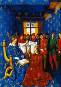 Король Эдуард I перед королем Филиппом IV