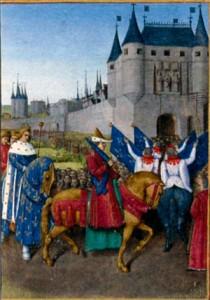 Вступление Карла V в Париж после коронации в Реймсе. Художник Ж. Фуке. Ок. 1455 г.