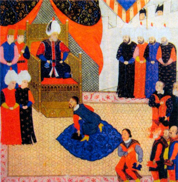 Сигизмунд Венгерский перед Сулейманом Великолепным в 1556 г.