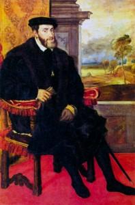 Портрет Карла V в кресле. Художник Тициан. 1548 г.