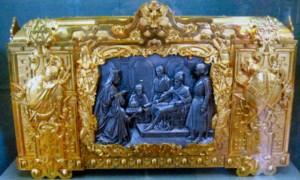 Золоченый ларец-ковчег для хранения грамоты об утверждении на царство Ивана IV. Художник Ф. Г. Солнцев