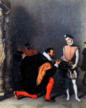 Дон Педро Толедский целующий меч Генриха IV. Художник Ж.-О.-Д. Энгр. 1820 г.