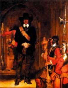 Оливер Кромвель арестовывает короля Карла I