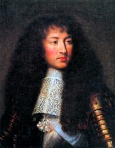 Людовик XIV в молодые годы. Художник Ч. ле Брун. 1661 г.