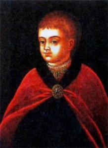 Петр в детстве. Парсуна XVII в.