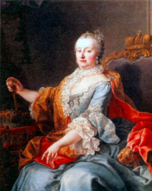 Мария Терезия. Художник М. ван Мейтенс. 1759 г.