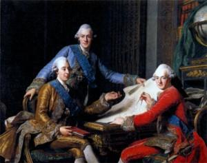 Густав III и его братья. Художник А. Рослин. 1771 г.