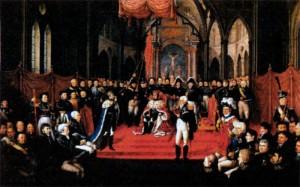 Коронация Карла XIV королем Швеции и Норвегии в 1818 г.