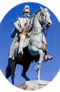 Памятник Вильгельму I на мосту Гогенцоллернов в Кёльне
