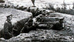 Польские окопы в Белоруссии во время сражения на Немане. 1920 г.