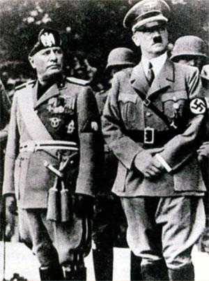 Муссолини и Гитлер 1937 г.