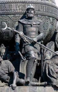 Дмитрий Донской на памятнике «Тысячелетие России» в Великом Новгороде