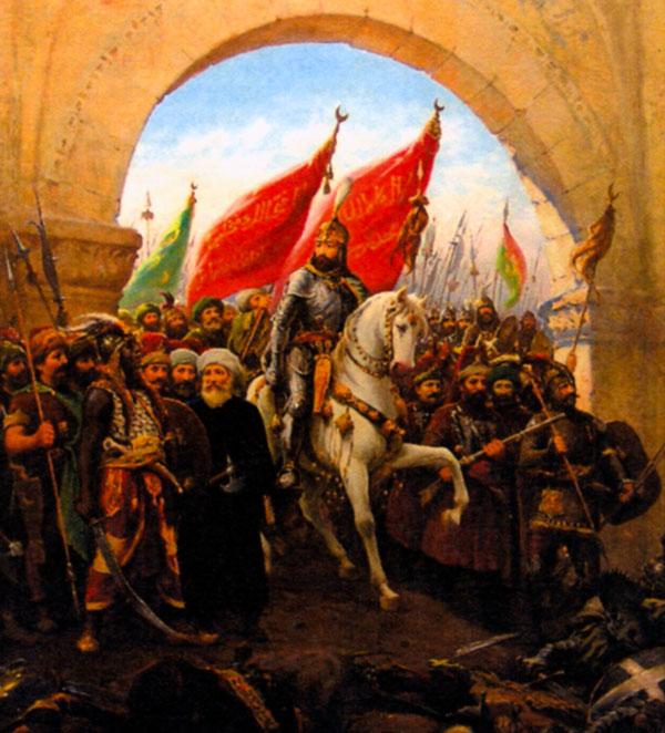 Мехмет II входит в Константинополь. Художник Ф. Зонаро