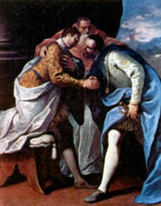 Папа Римский Павел III, Франциск I и Карл V. Художник С. Риччи. 1687-1688 гг.