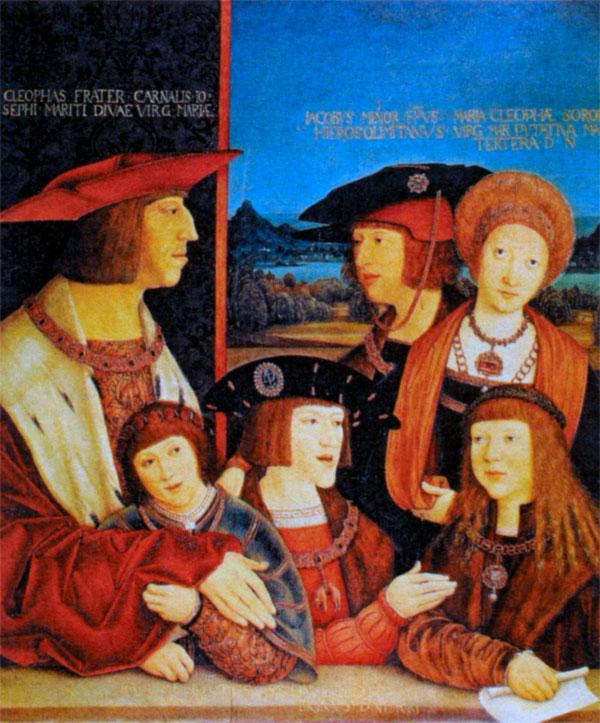 Портрет императора Максимилиана и его семьи. Художник Б. Штригель