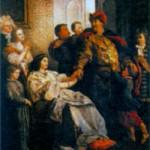 Ян III прощается с семьей перед походом. Художник В. Герсон