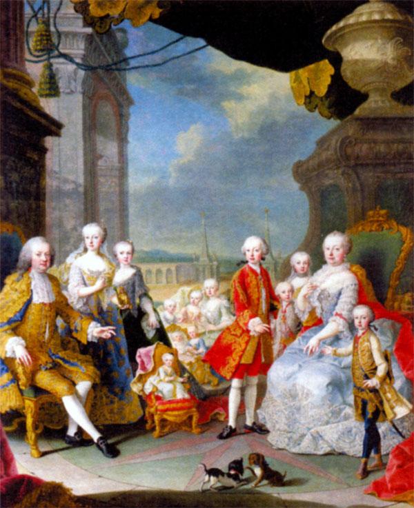 Императорская семья. Художник М. ван Мейтенс. 1754 г.