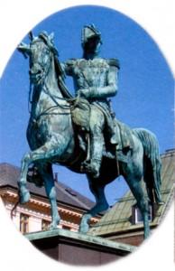 Статуя Бернадота в Стокгольме