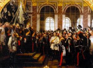 Церемония объявления Вильгельма I императором в Версале. Художник А. фон Вернер. 1885 г.