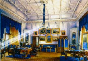 Синий кабинет Александра II в Зимнем дворце. Художник Э. П. Гоу